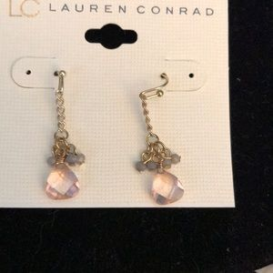Hanging gold chain earrings by lc Lauren Conrad
